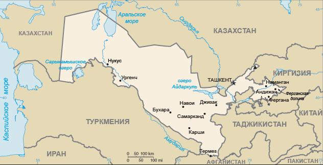 Узбекистан. О въезде грузовых транспортных средств на территорию Республики Узбекистан